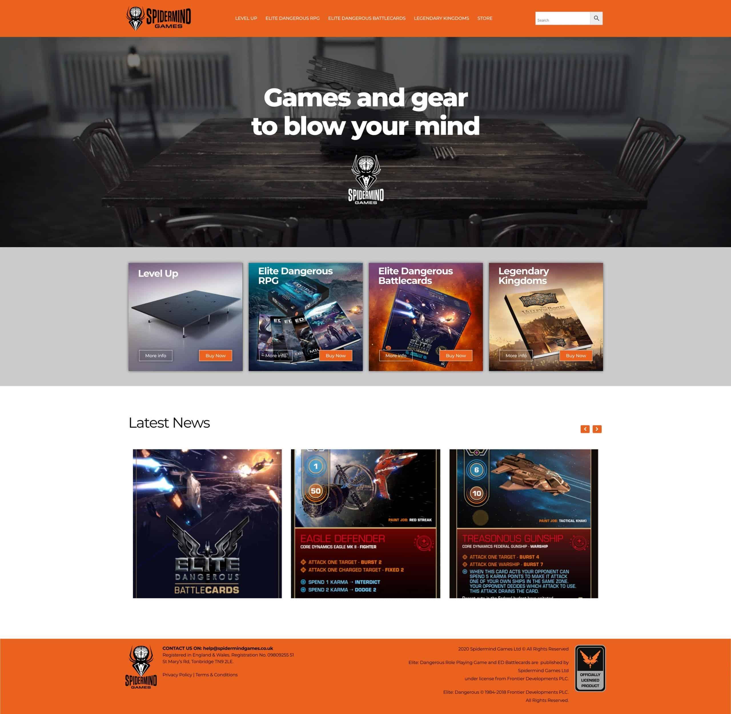 Spidermind Games Website